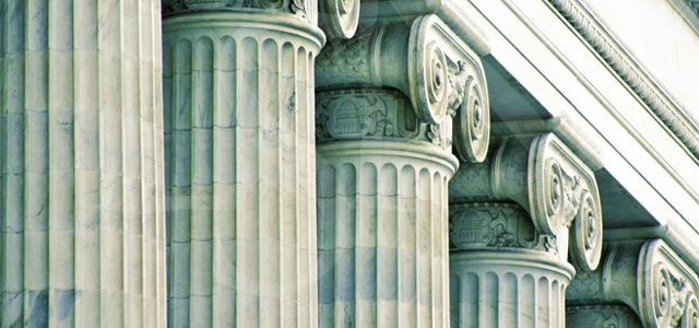 White Collar Crime Banner - Image of Courthouse Columns